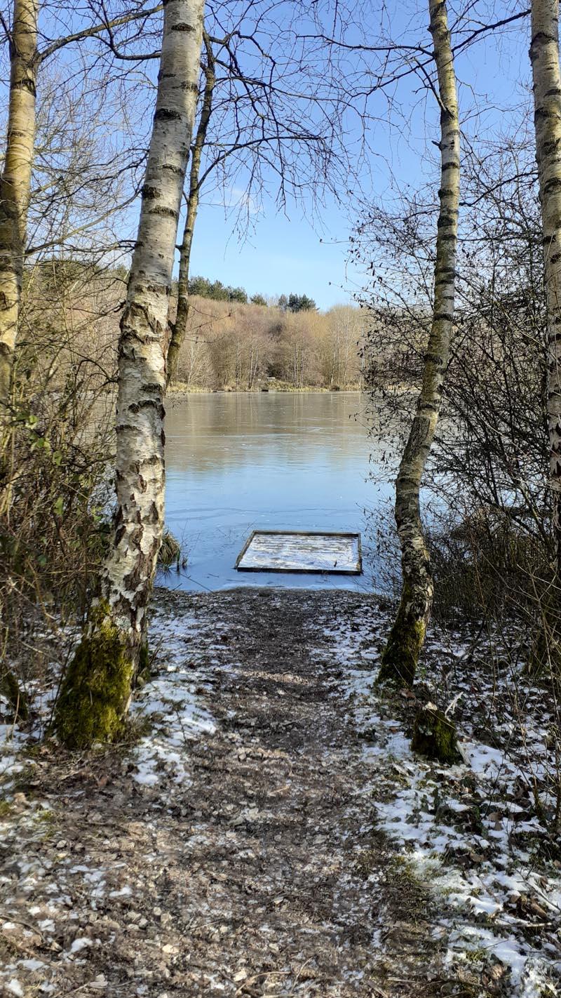 Holmebrook Valley Park, Chesterfield - winter