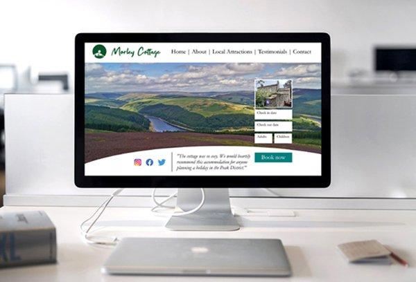 MorleyCottageWebsiteOnScreen